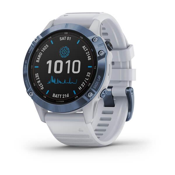 Garmin fēnix® 6 – Pro Solar Edition (Blau/Weiß)